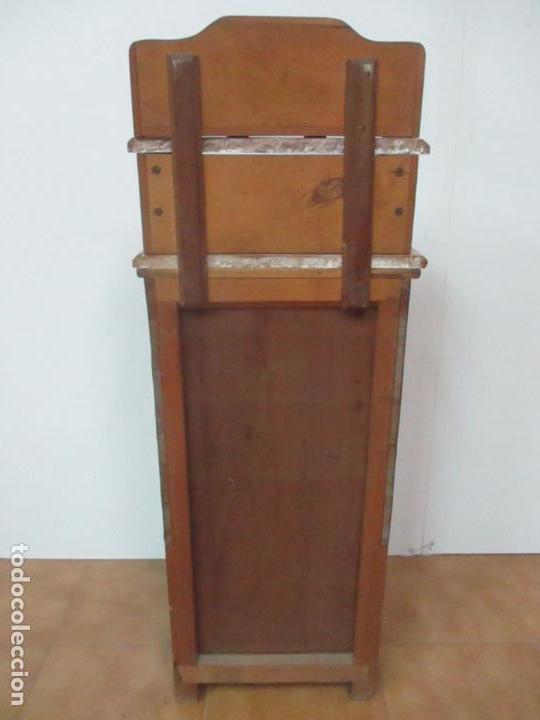 Antigüedades: Bonita Mesita Art Deco - Madera de Caoba y Limoncillo - Mármol Rojo Alicante - Principios S. XX - Foto 28 - 132100426