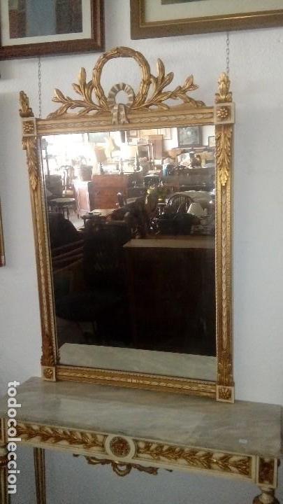 Antigüedades: Consola y espejo estilo Luis XVI - Foto 3 - 132120098