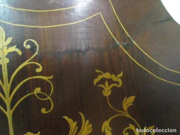 Antigüedades: Cabezal de Cama Isabelino - Madera de Caoba - Bonita Marquetería, de Madera de Boj - S. XIX - Foto 13 - 132128418