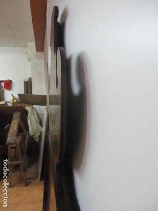 Antigüedades: Cabezal de Cama Isabelino - Madera de Caoba - Bonita Marquetería, de Madera de Boj - S. XIX - Foto 17 - 132128418