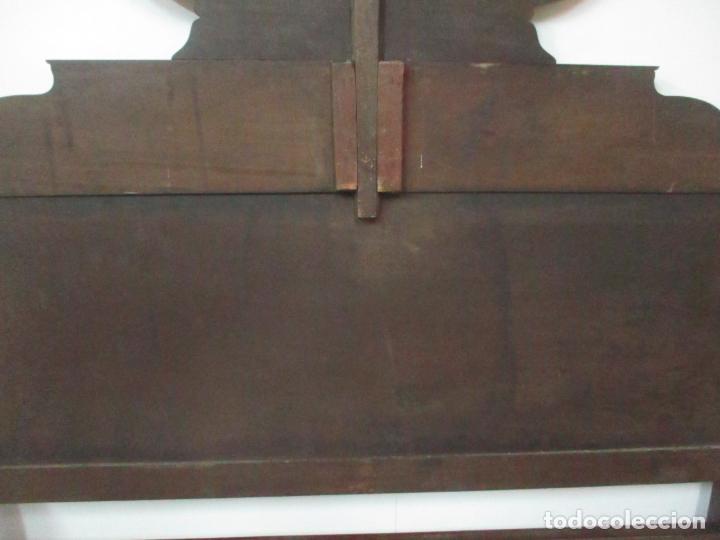 Antigüedades: Cabezal de Cama Isabelino - Madera de Caoba - Bonita Marquetería, de Madera de Boj - S. XIX - Foto 19 - 132128418