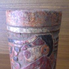 Antigüedades: RÉPLICA ARTESANÍA MAYA. Lote 132135642
