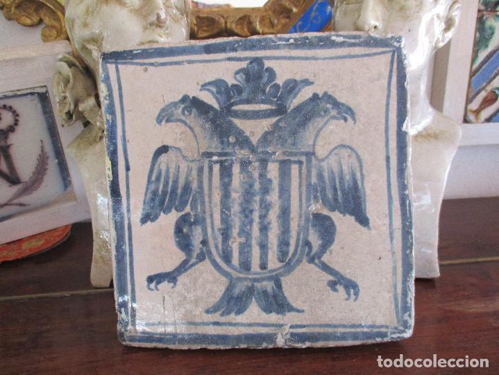 AZULEJO DE TERUEL SIGLO XVI (Antigüedades - Porcelanas y Cerámicas - Azulejos)