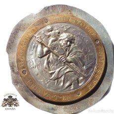 Oggetti Antichi: PLACA CON MOTIVO RELIOSO. SAN CHISTOPHE - 19 CM DE DIÁMETRO. Lote 132159234