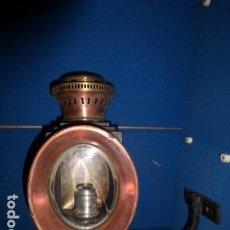 Antigüedades: ANTIGUA LAMPARA DE CARRUAJE DE LA EMPRESA FANUFACTURAS DE CARRUAJES ZACARIAS LOPEZ MADRID, . Lote 132171498