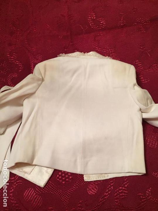 Antigüedades: Antigua americana / traje de niño de primera comunión en seda blanca años 60 con caja original - Foto 2 - 132176230