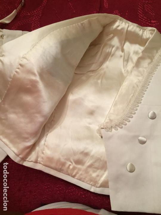 Antigüedades: Antigua americana / traje de niño de primera comunión en seda blanca años 60 con caja original - Foto 10 - 132176230