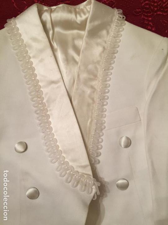 Antigüedades: Antigua americana / traje de niño de primera comunión en seda blanca años 60 con caja original - Foto 11 - 132176230