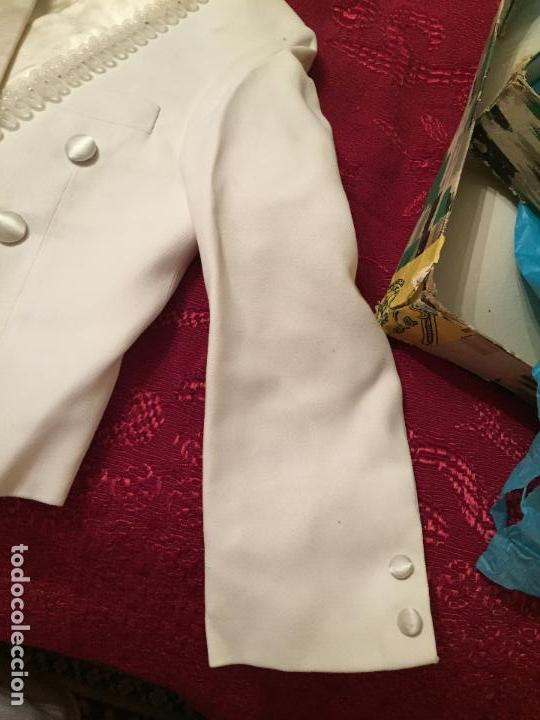 Antigüedades: Antigua americana / traje de niño de primera comunión en seda blanca años 60 con caja original - Foto 12 - 132176230