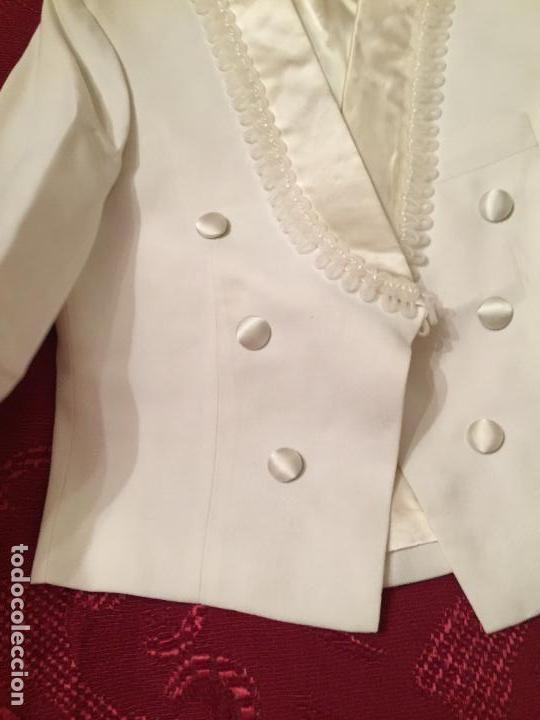 Antigüedades: Antigua americana / traje de niño de primera comunión en seda blanca años 60 con caja original - Foto 13 - 132176230