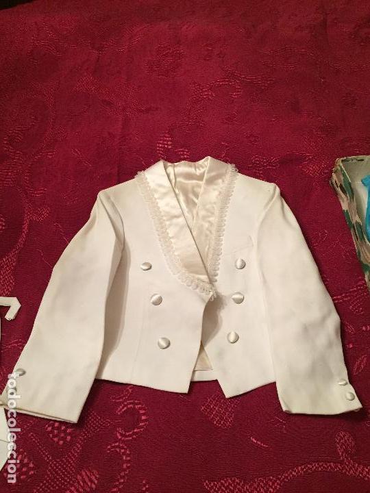 Antigüedades: Antigua americana / traje de niño de primera comunión en seda blanca años 60 con caja original - Foto 14 - 132176230