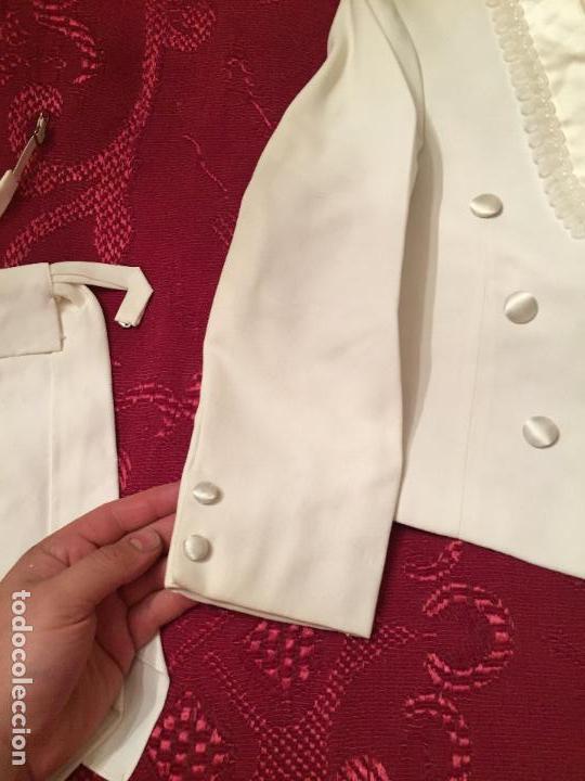 Antigüedades: Antigua americana / traje de niño de primera comunión en seda blanca años 60 con caja original - Foto 15 - 132176230