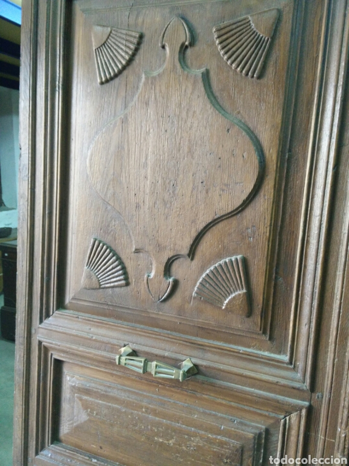Antigüedades: Portón de dos hojas tallado - Foto 4 - 132189789