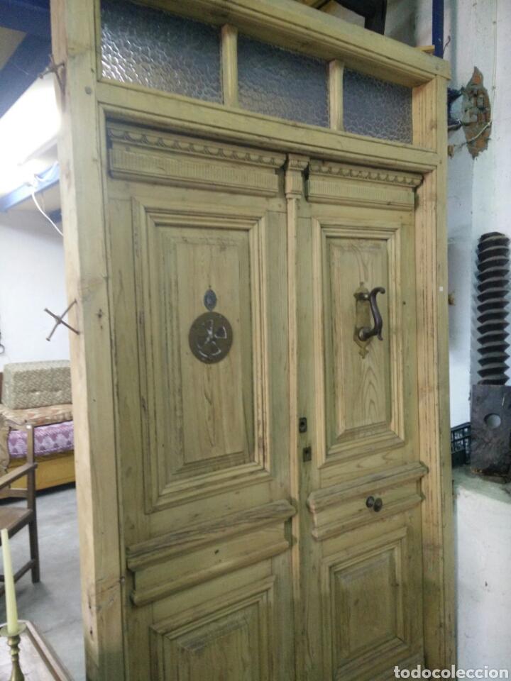 Antigüedades: Portón con tragaluz - Foto 2 - 132190151
