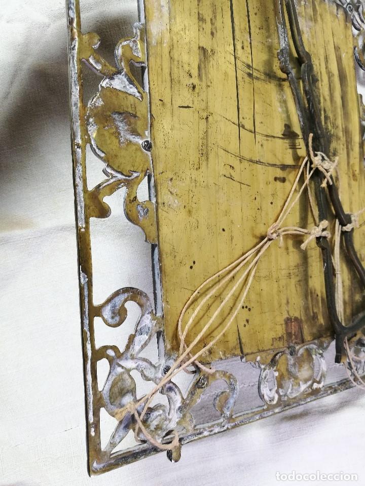 Antigüedades: bonito marco portafotos portaretratos bronce años 40 original...grande 35 x 28 cm - Foto 3 - 132199094