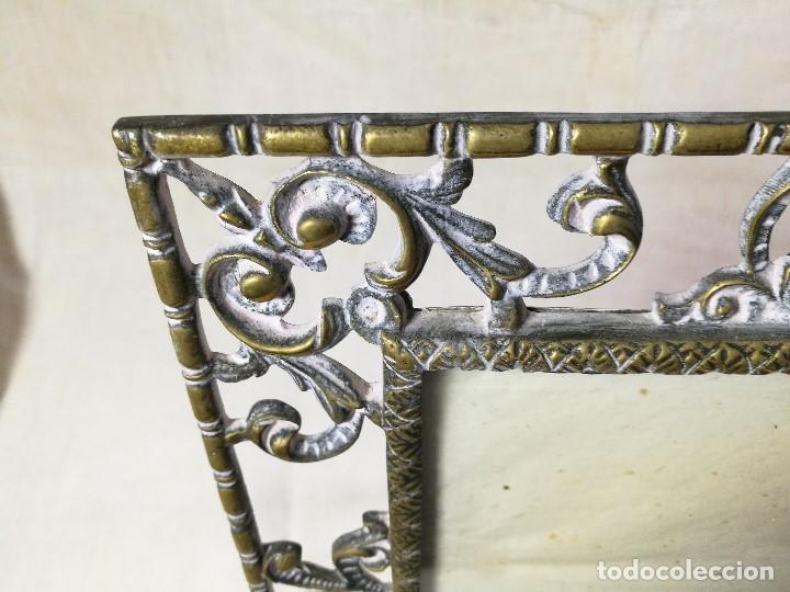 Antigüedades: bonito marco portafotos portaretratos bronce años 40 original...grande 35 x 28 cm - Foto 8 - 132199094