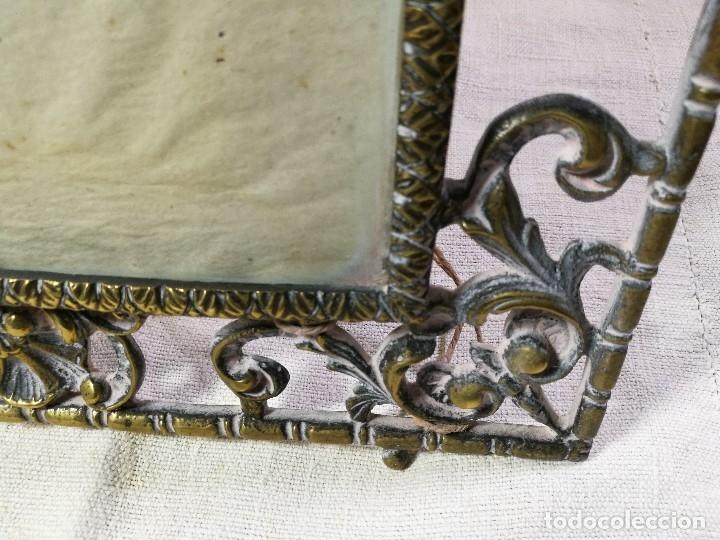 Antigüedades: bonito marco portafotos portaretratos bronce años 40 original...grande 35 x 28 cm - Foto 10 - 132199094