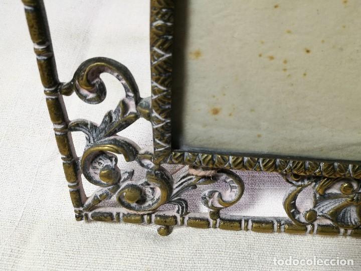 Antigüedades: bonito marco portafotos portaretratos bronce años 40 original...grande 35 x 28 cm - Foto 11 - 132199094