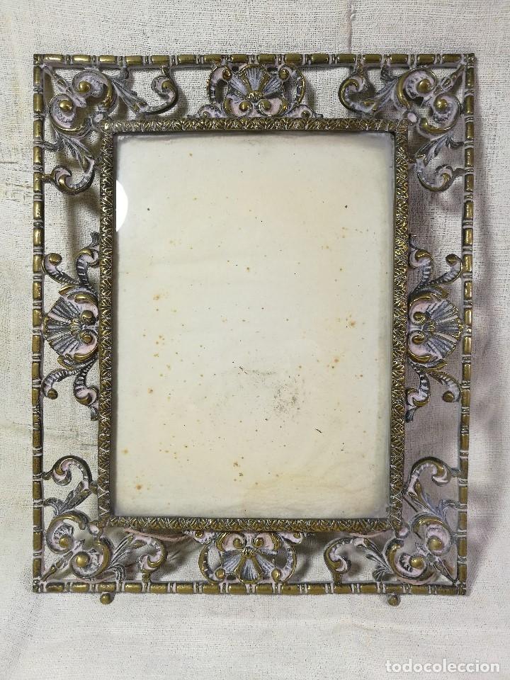 Antigüedades: bonito marco portafotos portaretratos bronce años 40 original...grande 35 x 28 cm - Foto 14 - 132199094