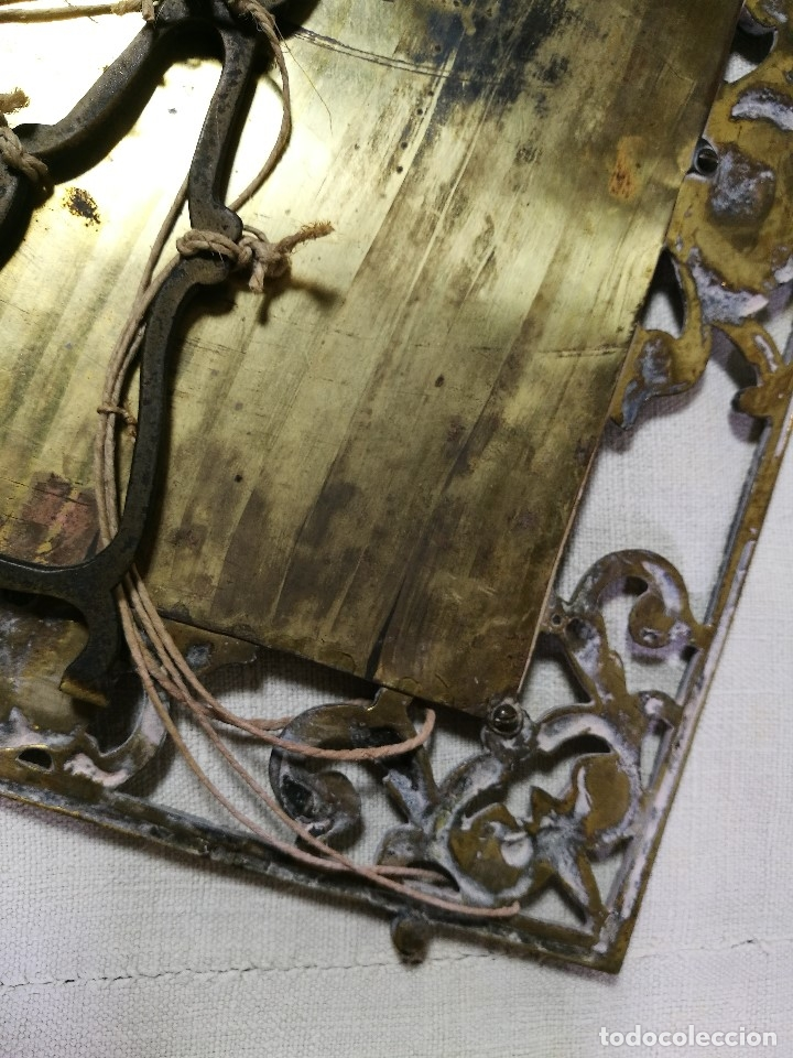 Antigüedades: bonito marco portafotos portaretratos bronce años 40 original...grande 35 x 28 cm - Foto 16 - 132199094