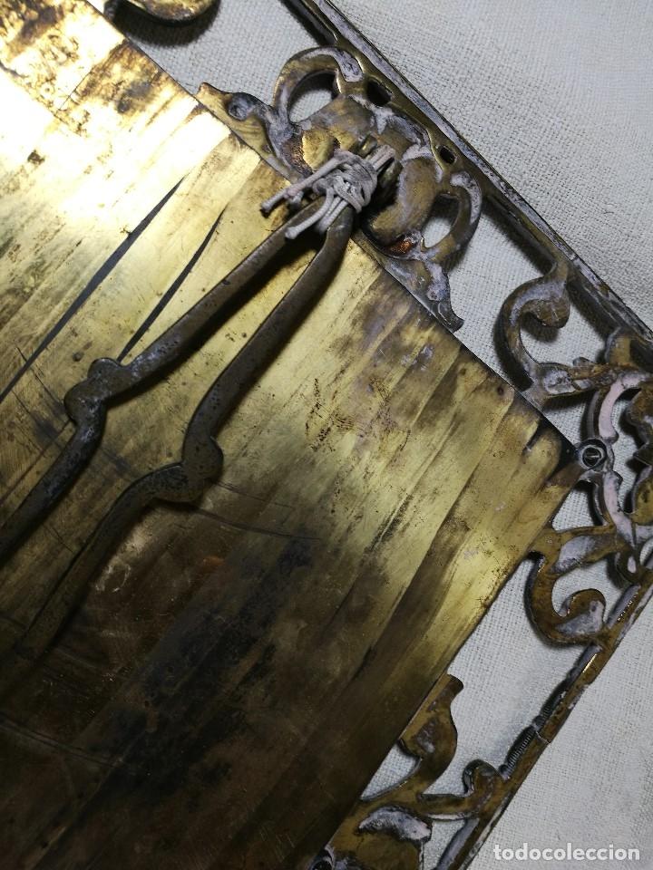 Antigüedades: bonito marco portafotos portaretratos bronce años 40 original...grande 35 x 28 cm - Foto 17 - 132199094