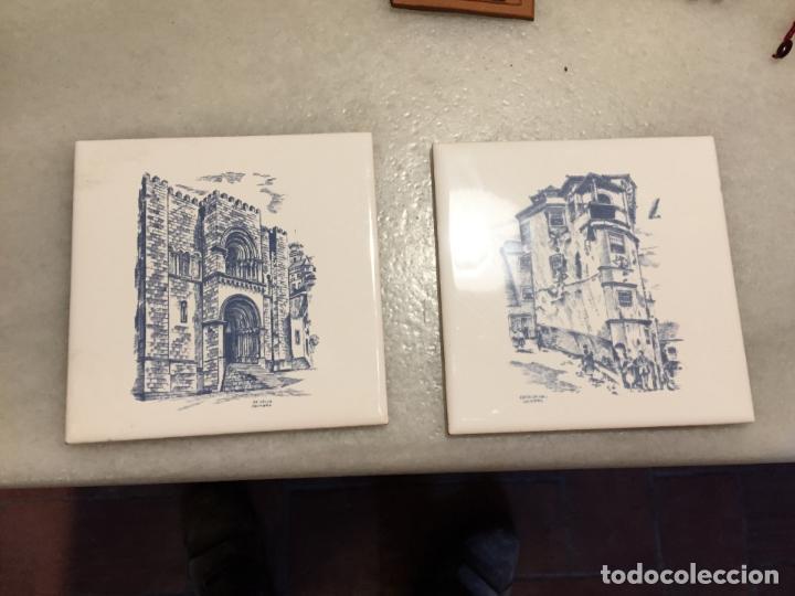 Antiguos 2 Azulejos De Ceramica Con Dibujos De Comprar Azulejos - Azulejos-con-dibujos