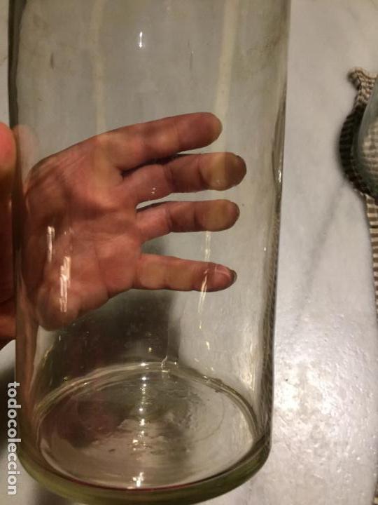Antigüedades: Antiguos 4 bote / tarro botes / tarros de cristal Catalán soplado a mano del siglo XIX - Foto 27 - 132209894