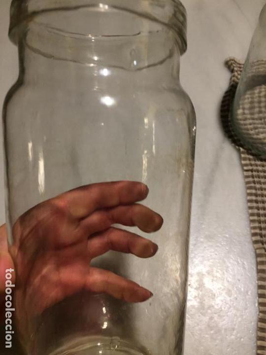 Antigüedades: Antiguos 4 bote / tarro botes / tarros de cristal Catalán soplado a mano del siglo XIX - Foto 28 - 132209894