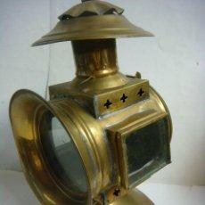 Antigüedades: FAROL ANTIGUO LATON QUEROSENO (#). Lote 132244126