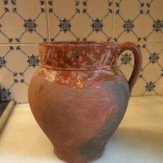 Antigüedades: ANTIGUO BOTE / JARRA / TUPÍ ORZA DE BARRO CATALÁN DEL SIGLO XIX . Lote 132252254