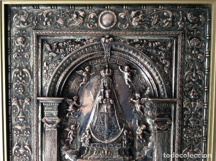 Antigüedades: ANTIGUA PLACA DE LA VIRGÉN DE BEGOÑA REALIZADA EN COBRE CON BAÑO DE PLATA - Foto 3 - 80387189