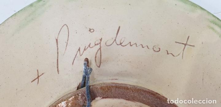 Antigüedades: COLECCIÓN DE 7 PLATOS. CERÁMICA CATALANA ESMALTADA Y VIDRIADA. FIRMADOS. SIGLO XX - Foto 11 - 132277074