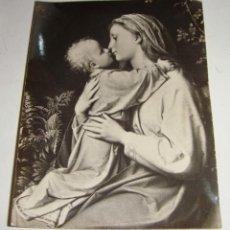 Antigüedades: FOTOGRAFÍA RELIGIOSA CON ORACION ESCRITA POR MARIA DEL CARMEN PEMÁN. 1953. Lote 132280678
