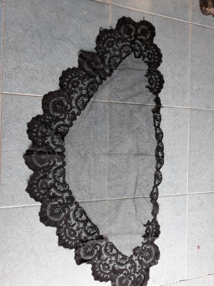 PAÑUELO DE ENCAJE NEGRO (Antigüedades - Moda - Pañuelos Antiguos)