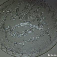 Antigüedades: PLATO ANTIGUO CRISTAL RAFAEL ALBERTI B ITALI, LA PALOMA DE LA PAZ. Lote 132282210