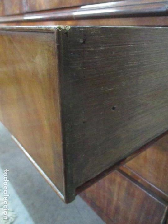 Antigüedades: Preciosa Vitrina - Estilo Regencia (1800-1830) Inglaterra - Madera de Caoba - 241 cm Altura - S. XIX - Foto 10 - 132309442