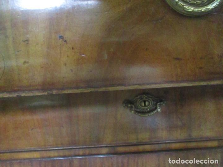 Antigüedades: Preciosa Vitrina - Estilo Regencia (1800-1830) Inglaterra - Madera de Caoba - 241 cm Altura - S. XIX - Foto 11 - 132309442
