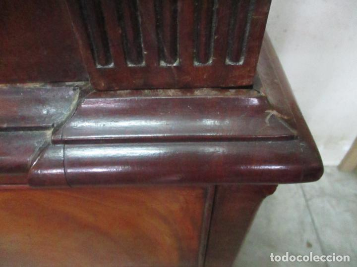 Antigüedades: Preciosa Vitrina - Estilo Regencia (1800-1830) Inglaterra - Madera de Caoba - 241 cm Altura - S. XIX - Foto 12 - 132309442