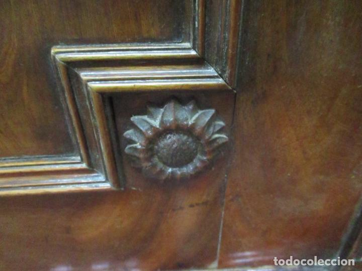 Antigüedades: Preciosa Vitrina - Estilo Regencia (1800-1830) Inglaterra - Madera de Caoba - 241 cm Altura - S. XIX - Foto 17 - 132309442