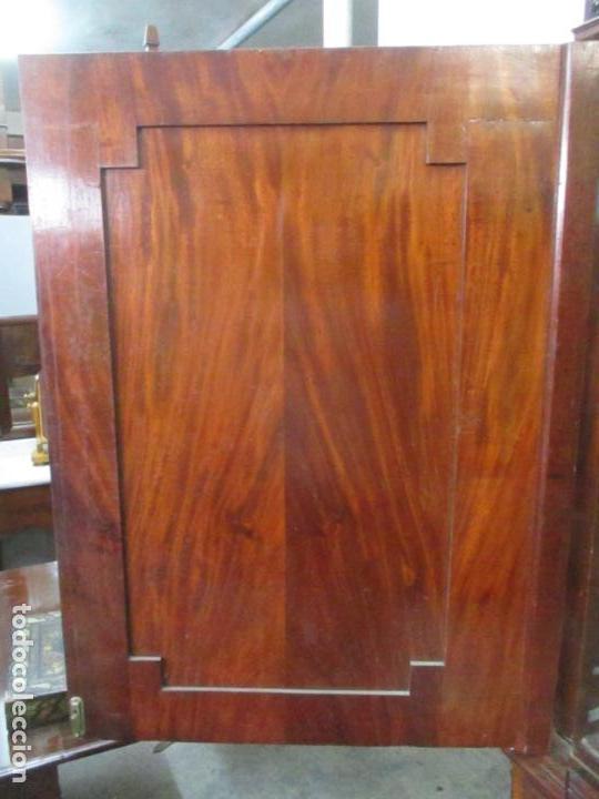 Antigüedades: Preciosa Vitrina - Estilo Regencia (1800-1830) Inglaterra - Madera de Caoba - 241 cm Altura - S. XIX - Foto 21 - 132309442