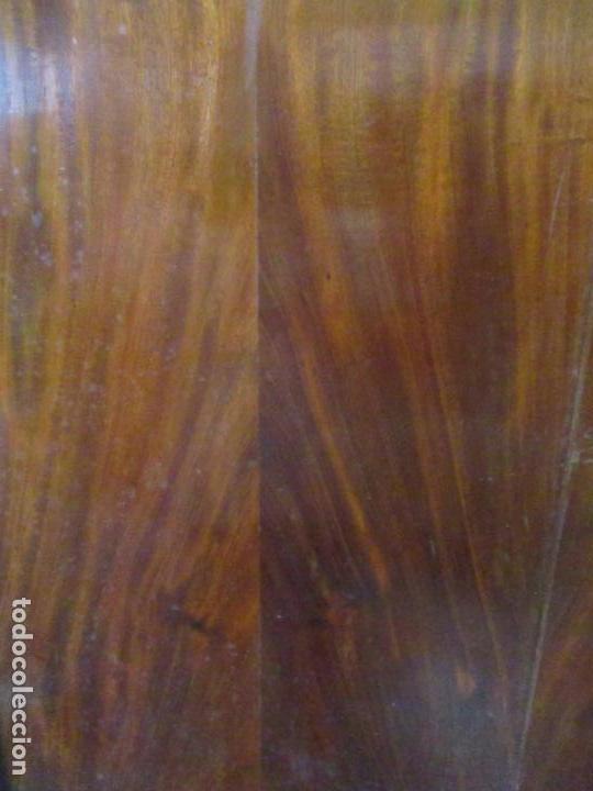 Antigüedades: Preciosa Vitrina - Estilo Regencia (1800-1830) Inglaterra - Madera de Caoba - 241 cm Altura - S. XIX - Foto 22 - 132309442