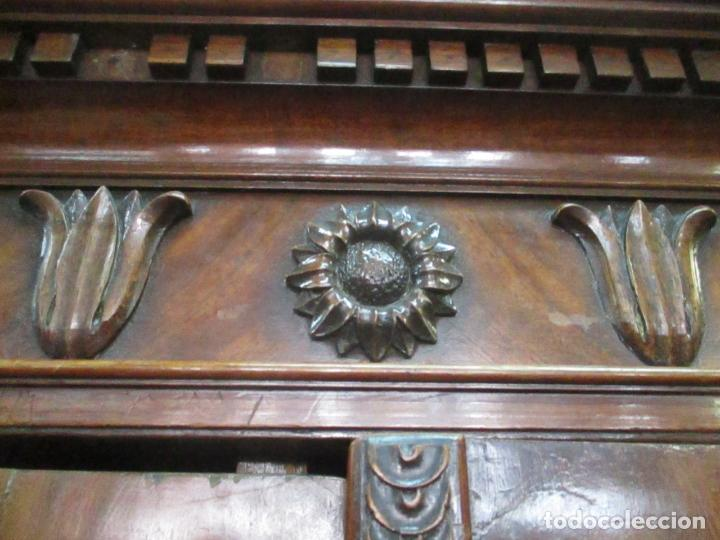 Antigüedades: Preciosa Vitrina - Estilo Regencia (1800-1830) Inglaterra - Madera de Caoba - 241 cm Altura - S. XIX - Foto 36 - 132309442