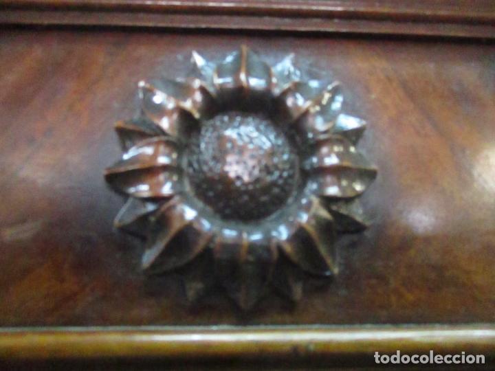 Antigüedades: Preciosa Vitrina - Estilo Regencia (1800-1830) Inglaterra - Madera de Caoba - 241 cm Altura - S. XIX - Foto 37 - 132309442