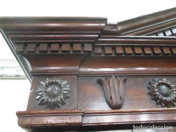 Antigüedades: Preciosa Vitrina - Estilo Regencia (1800-1830) Inglaterra - Madera de Caoba - 241 cm Altura - S. XIX - Foto 38 - 132309442