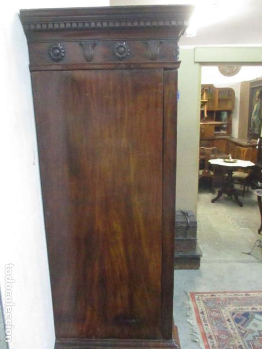 Antigüedades: Preciosa Vitrina - Estilo Regencia (1800-1830) Inglaterra - Madera de Caoba - 241 cm Altura - S. XIX - Foto 50 - 132309442