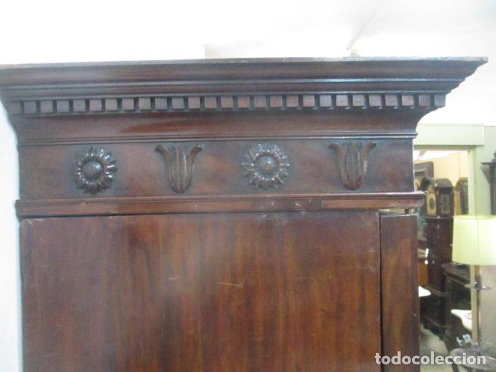 Antigüedades: Preciosa Vitrina - Estilo Regencia (1800-1830) Inglaterra - Madera de Caoba - 241 cm Altura - S. XIX - Foto 51 - 132309442