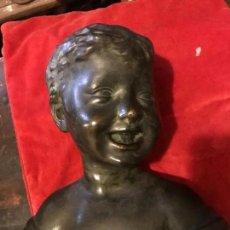 Antigüedades: BUSTO ART NOVEAU NIÑO SONRIENTE. Lote 132320990