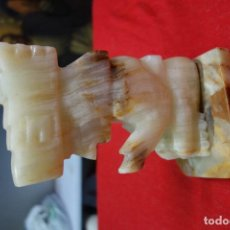 Antigüedades: FIGURA DE PIEDRA DE AGUA DE ORIGEN MEXICANO. Lote 132321110