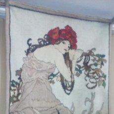 Antigüedades: ALFOMBRA TIPO TAPIZ MODERNISTA ART NUOVEAU. Lote 132324722