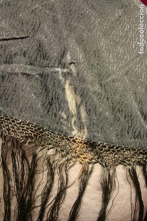 Antigüedades: ANTIGUO MANTON FINALES S XIX, PRINCIPIOS SXX, DE 100 X 10 MAS 30 CM FLECO - Foto 7 - 132344278